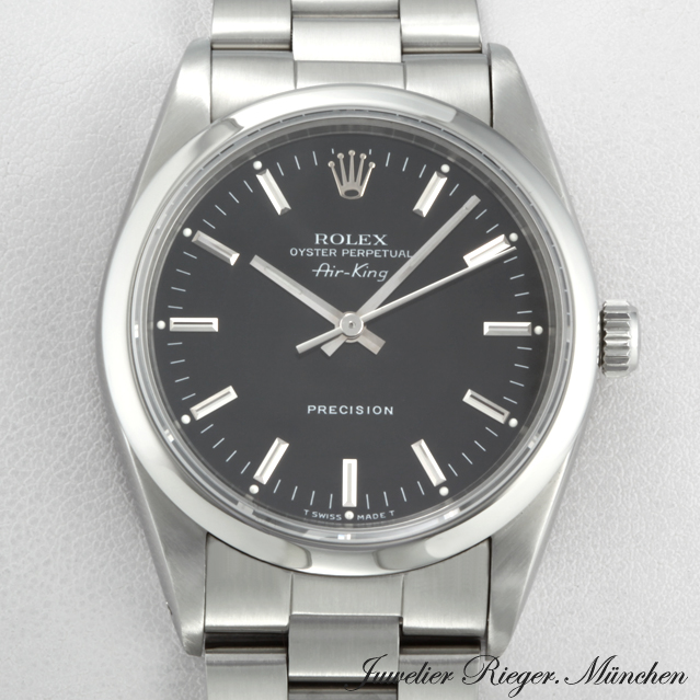 rolex uhr air king stahl automatik herren armbanduhr. Black Bedroom Furniture Sets. Home Design Ideas