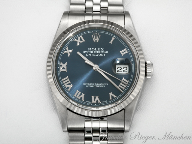 rolex datejust 16234 acero weissgold 750 automatik 36mm reloj hombre oro date just ebay. Black Bedroom Furniture Sets. Home Design Ideas