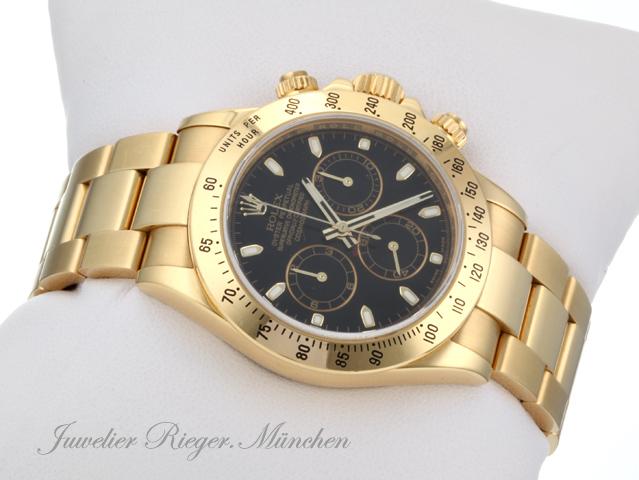 Rolex Daytona Gold Schwarz