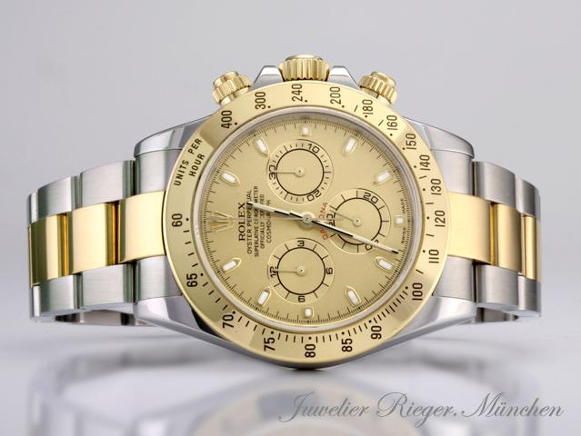 rolex uhr daytona 116523 stahl gold 750 chronograph. Black Bedroom Furniture Sets. Home Design Ideas