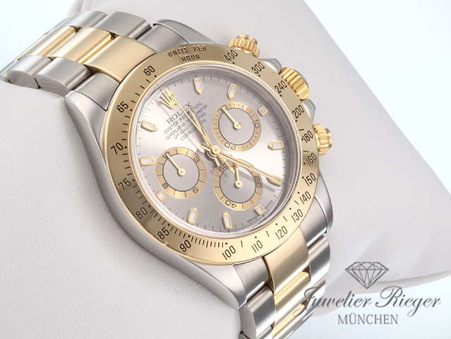 rolex daytona 116523 stahl gelbgold 750 chronograph. Black Bedroom Furniture Sets. Home Design Ideas