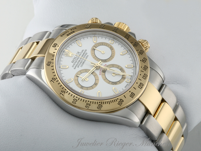 rolex daytona 116523 stahl gold 750 chronograph automatik. Black Bedroom Furniture Sets. Home Design Ideas