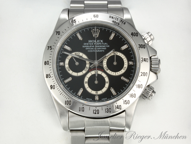 rolex uhr daytona stahl chronograph automatik herren. Black Bedroom Furniture Sets. Home Design Ideas