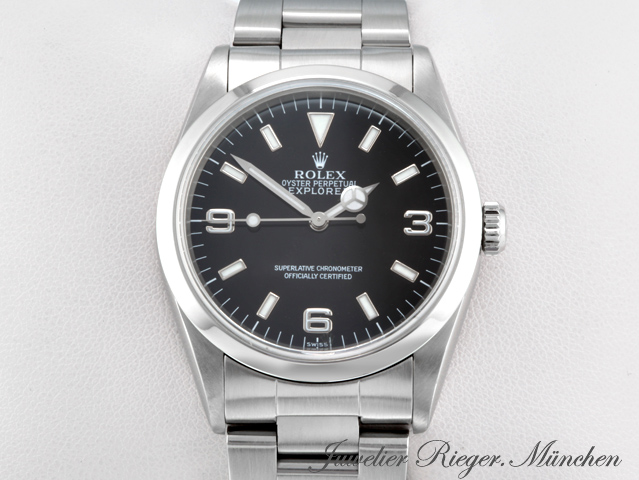 rolex uhr explorer i stahl automatik 1 herren armbanduhr. Black Bedroom Furniture Sets. Home Design Ideas