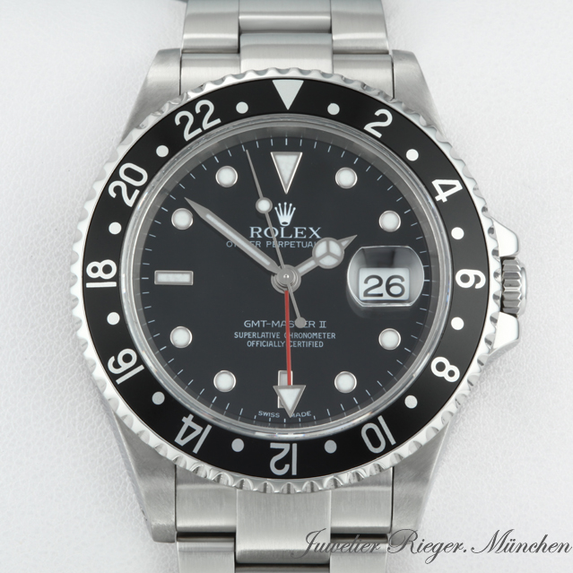 rolex uhr gmt ii stahl automatik zweite zeitzone. Black Bedroom Furniture Sets. Home Design Ideas