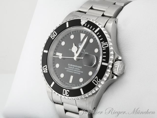 rolex uhr submariner date 16610 stahl automatik taucheruhr herrenuhr armbanduhr ebay. Black Bedroom Furniture Sets. Home Design Ideas