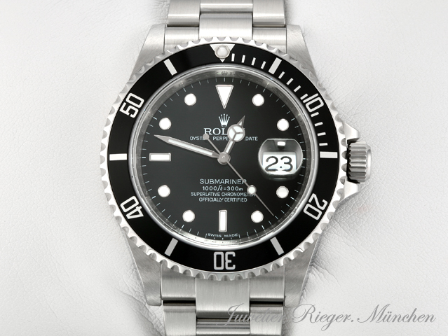 rolex uhr submariner date 16610 t stahl automatik herren. Black Bedroom Furniture Sets. Home Design Ideas