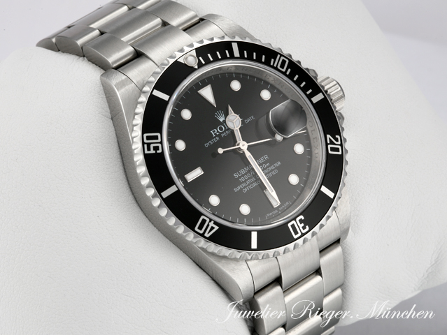rolex submariner date stahl 16610 t rehaut 2008 automatik. Black Bedroom Furniture Sets. Home Design Ideas