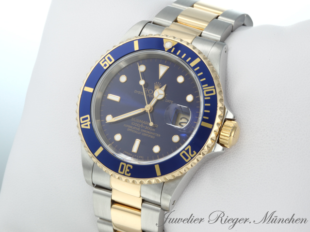 rolex uhr submariner date 16613 stahl gold 750 automatik. Black Bedroom Furniture Sets. Home Design Ideas