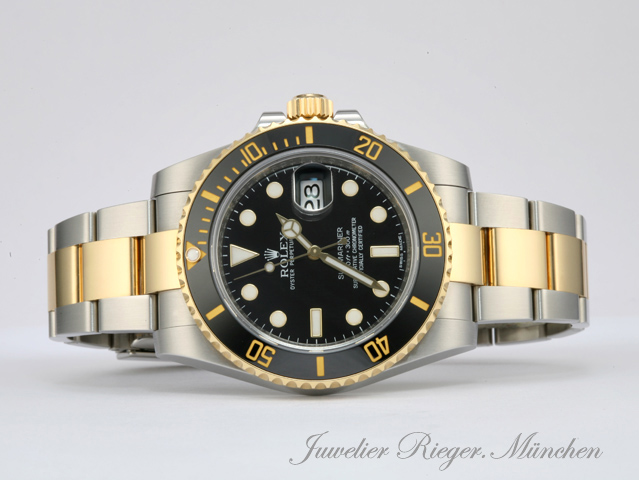 rolex submariner date 116613 ln stahl gelbgold 750. Black Bedroom Furniture Sets. Home Design Ideas