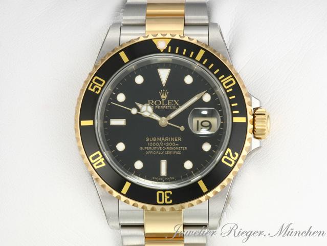 rolex uhr submariner date 16613 stahl gold 750 automatik. Black Bedroom Furniture Sets. Home Design Ideas