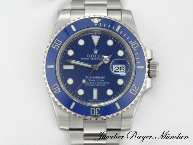 rolex submariner date 116619 lb weissgold 750 automatik. Black Bedroom Furniture Sets. Home Design Ideas