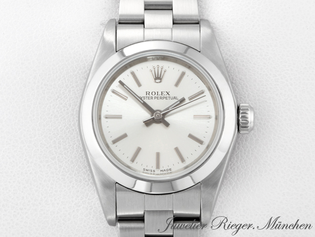 rolex uhr oyster perpetual lady stahl automatik armbanduhr damenuhr datejust ebay. Black Bedroom Furniture Sets. Home Design Ideas