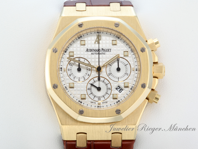 audemars piguet royal oak 26022ba gelbgold 750 chronograph automatik ap gold ebay. Black Bedroom Furniture Sets. Home Design Ideas