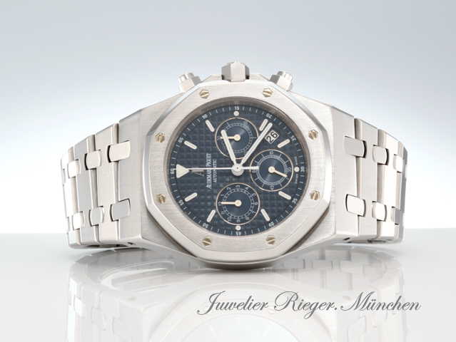 audemars piguet uhr royal oak stahl 25860 st chronograph automatik herrenuhr ap ebay. Black Bedroom Furniture Sets. Home Design Ideas