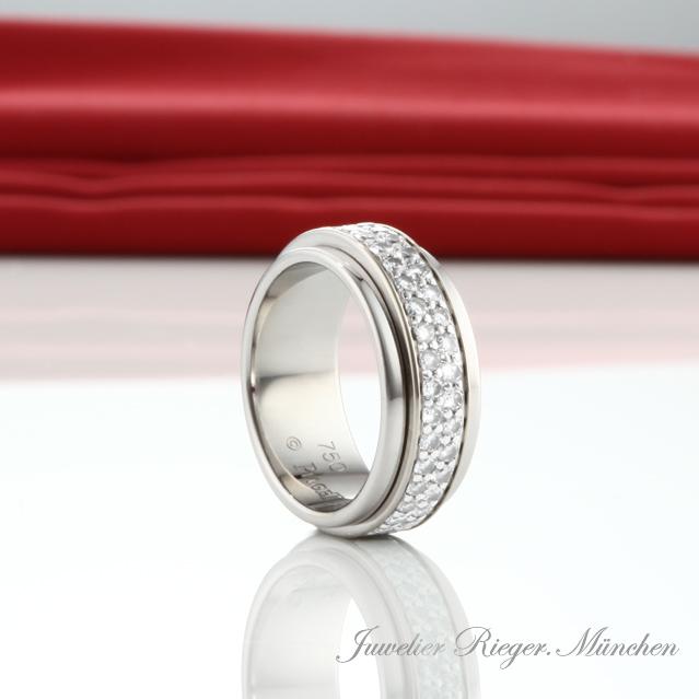 piaget bague possession taille 48 blanc or 750 brillant diamant bijoux ebay. Black Bedroom Furniture Sets. Home Design Ideas
